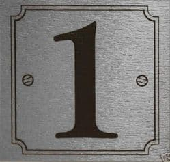 Silver Exterior or interior Stick on Door or Gate Numbers 8cm x 8cm